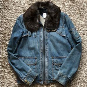 Marc Jacobs Vintage Jean Jacket w/Fun Collor